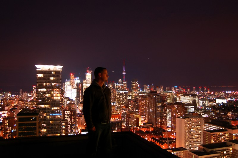 Watching Over Toronto at Night