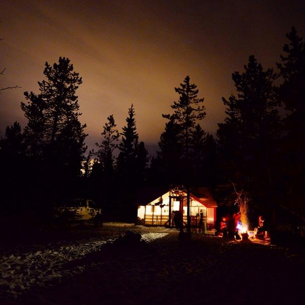 Aurora Borealis Viewing Lodge Outside Whitehorse in Canada's Yukon Territory