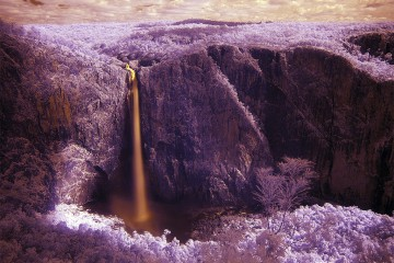 Wallaman Falls in infrared