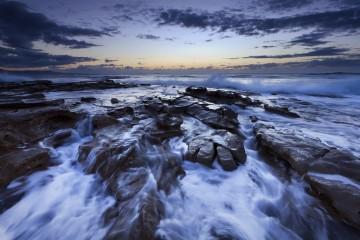 Endless Cascades at Bellambi Beach, New South Wales, Australia