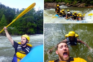 Whitewater Rafting the Ocoee River Near Chattanooga, Tennessee