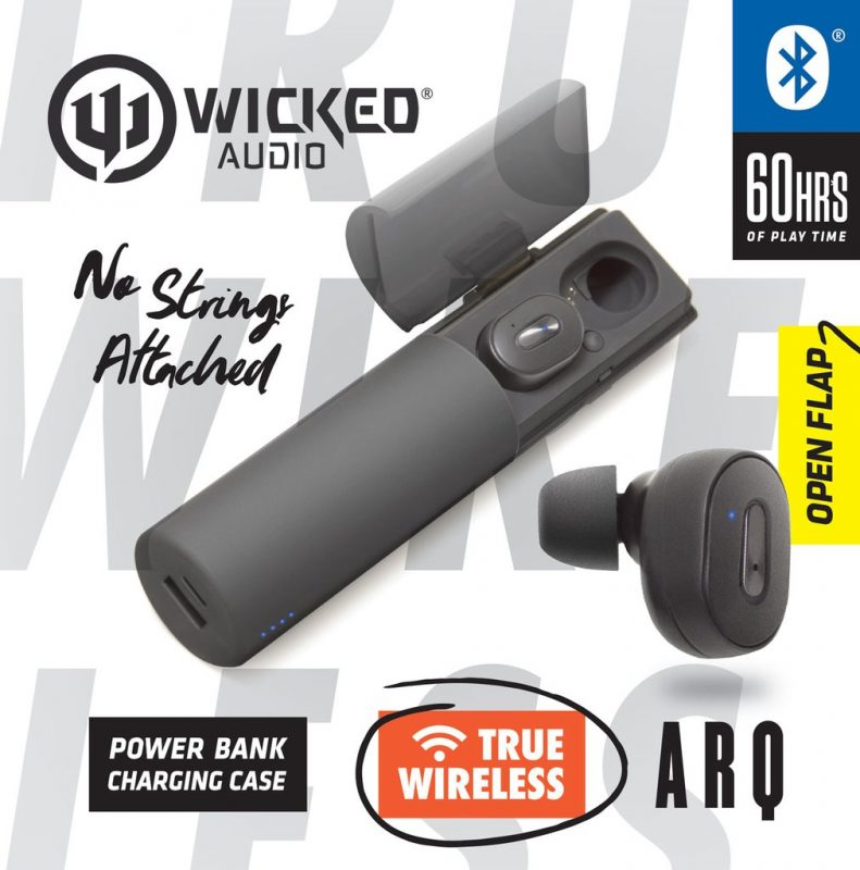 Wicked Audio Arq True Wireless Bluetooth Earbud Headphones