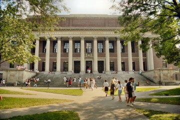 The Widener Library at Harvard University in Cambridge