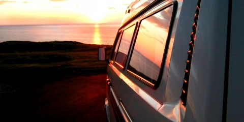 Campervanning in Isle of Harris, Scotland