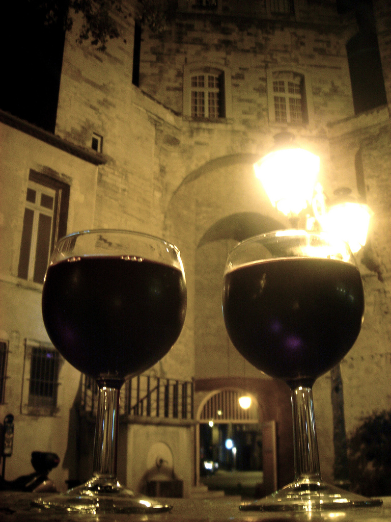 Two glasses of wine on Beaujolais Day