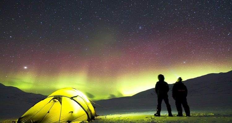 Winter Camping Under the Northern Lights