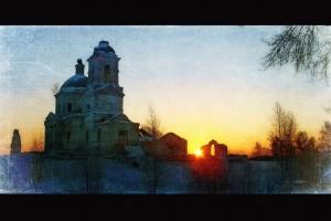 Winter scene in Russia