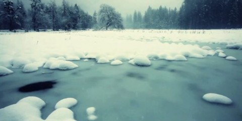 Winter in Yosemite National Park (video screenshot)