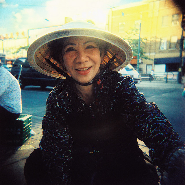 Vietnamese Woman on Street, Toronto, Canada