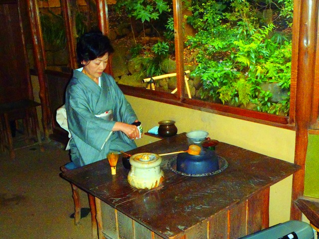 Traditional Tea Ceremony at Happo-en, Tokyo, Japan