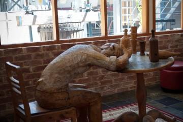 Wood Sculpture at St. Hallett Wines, South Australia