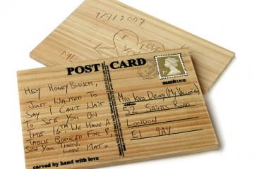 Carve-Your-Own Wooden Postcards