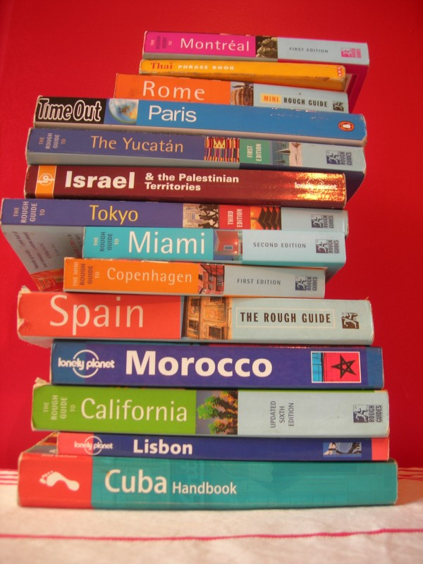 Stack of World Travel Guides